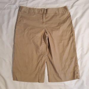 J.Crew Stretch Knee length capri/shorts size 8
